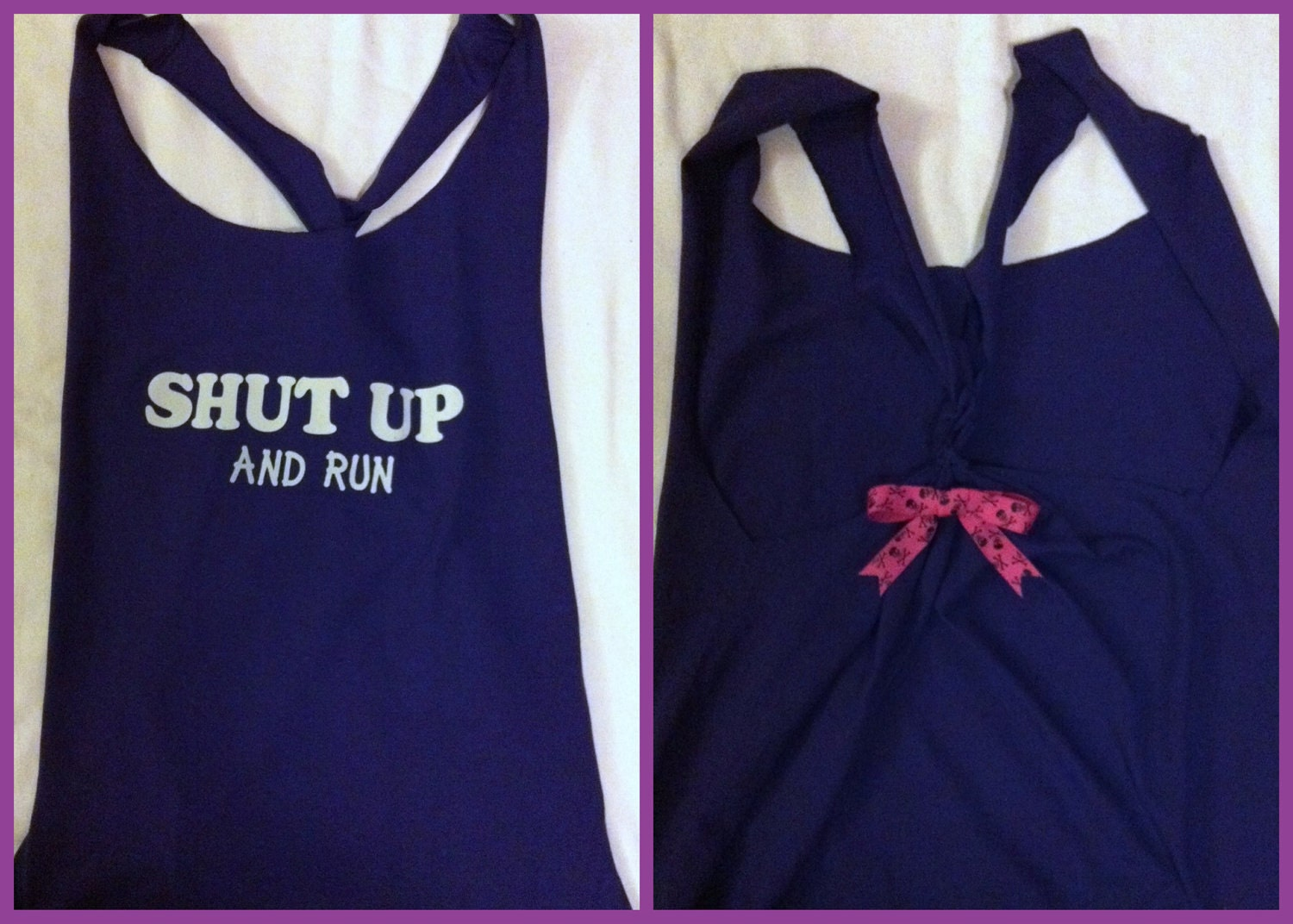 Shut Up and Run Racerback Work-out Tank Top