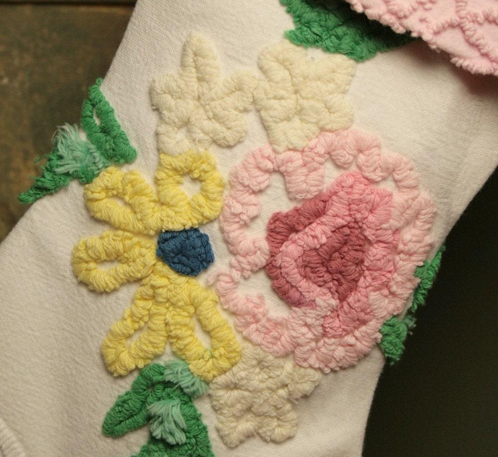 Розовые розы Букет кабины Ремесла Vintage синель Простые украшения