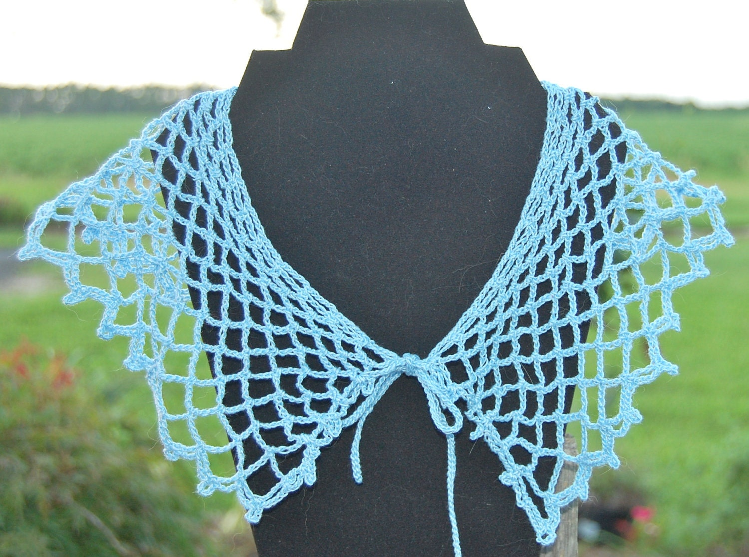 Blue Crocheted Collar - francesrobson