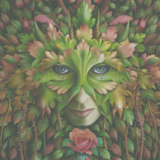 Cross Stitch Pattern: Greenwoman - PDF DOWNLOAD