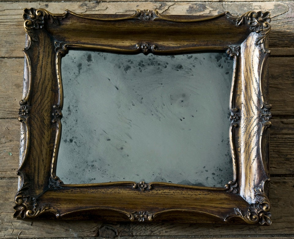 Hand Silvered Mirror, Magic Mirror, Glass Mirror, Wall Mirror, Wood Frame - AlchemyInGlass