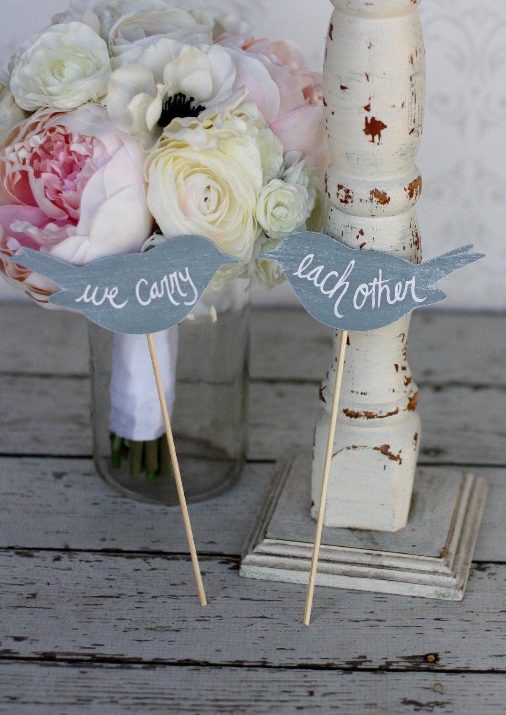 Vintage Rustic Wedding Cake Toppers