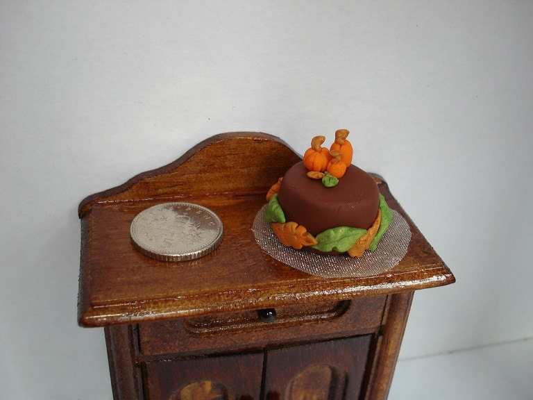 Miniature Fall/Autumn Pumpkin Cake