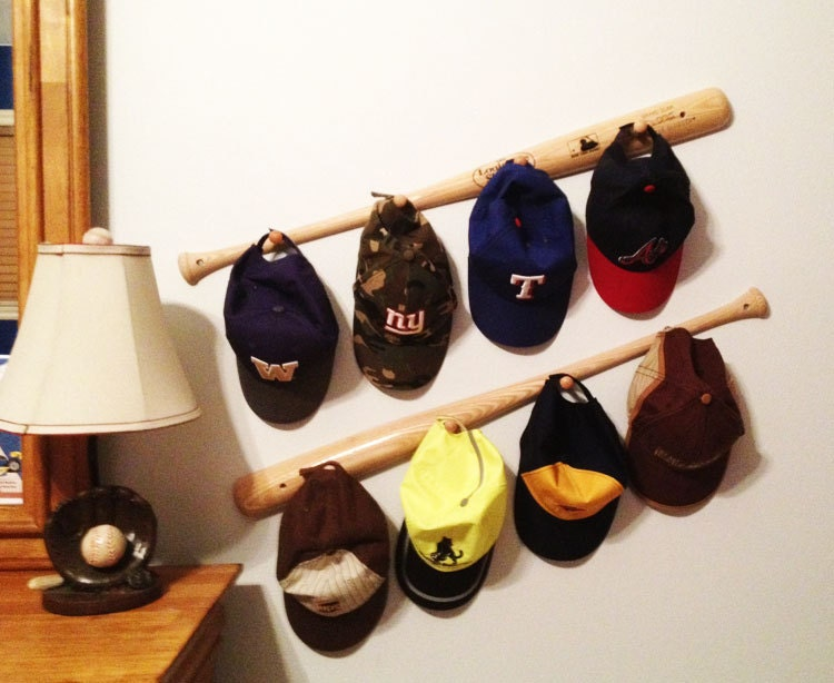 Baseball Bat Peg Hat Racks - calchicbyjacquiek