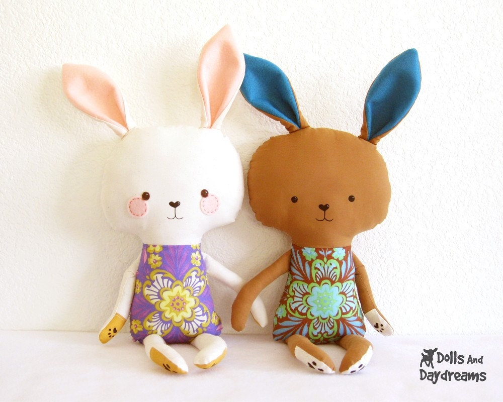 Stuffed Rabbit - Cloth Doll Making by Runo Dollmaker