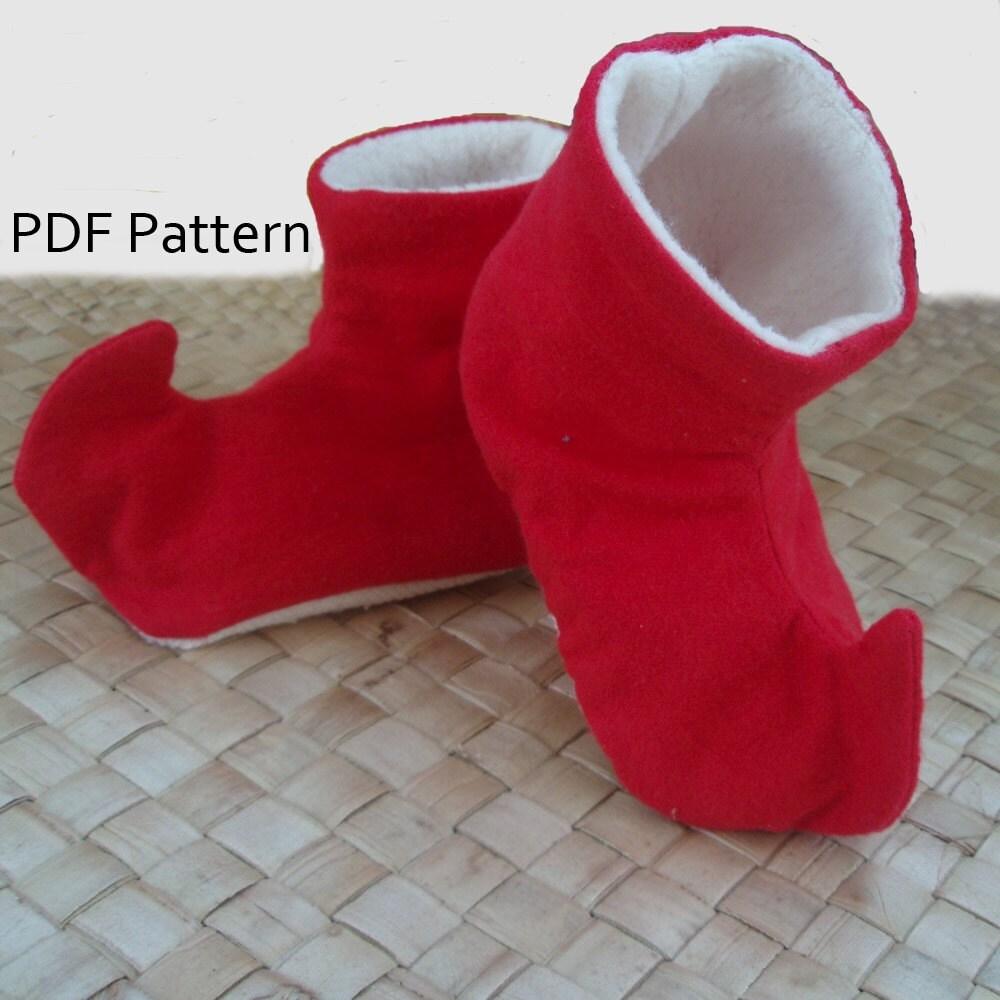 Elf Shoe Pattern http://www.etsy.com/listing/67203873/elf-baby-shoe ...