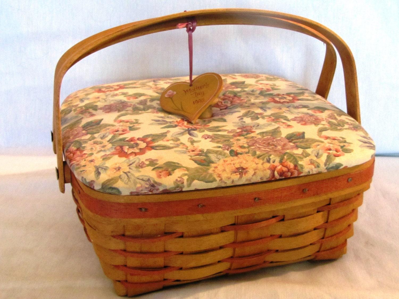 Vintage Mothers Day Longaberger Basket