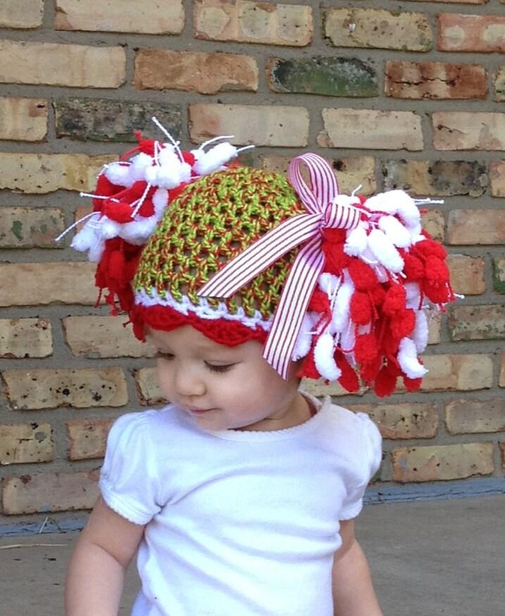 Crochet Christmas Pom Hat - Custom Made Any Size