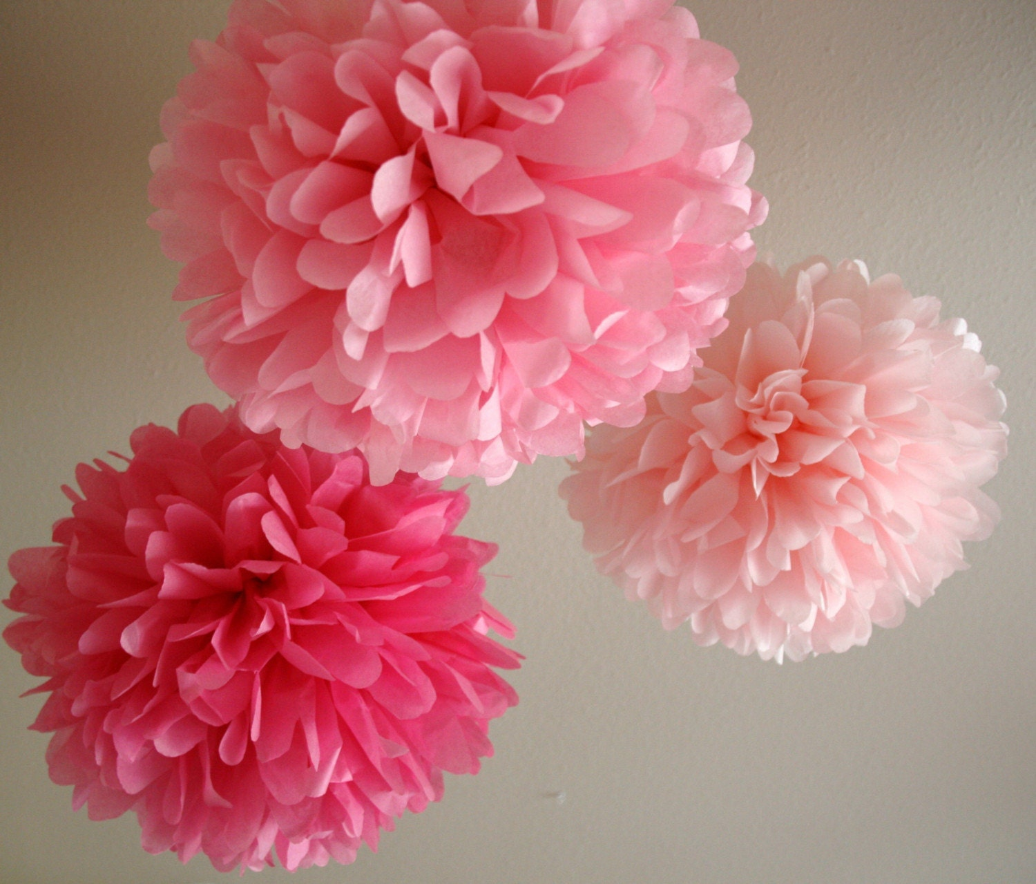 Cotton Candy - 3 poms READY TO SHIP - PartyPoms