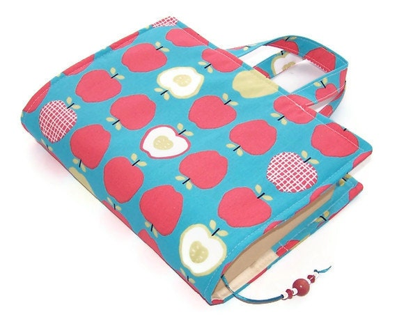 Book Cover Handmade ~ Apples handmade fabric book cover christmas by