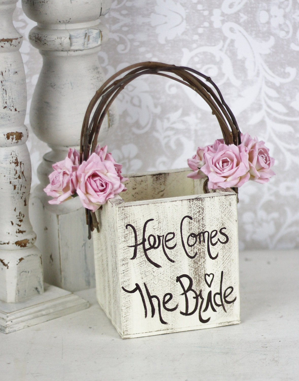 A Simple Square Planter Basket With Some Customized Touches Make This Charming Great For Rustic Garden Or Country Wedding