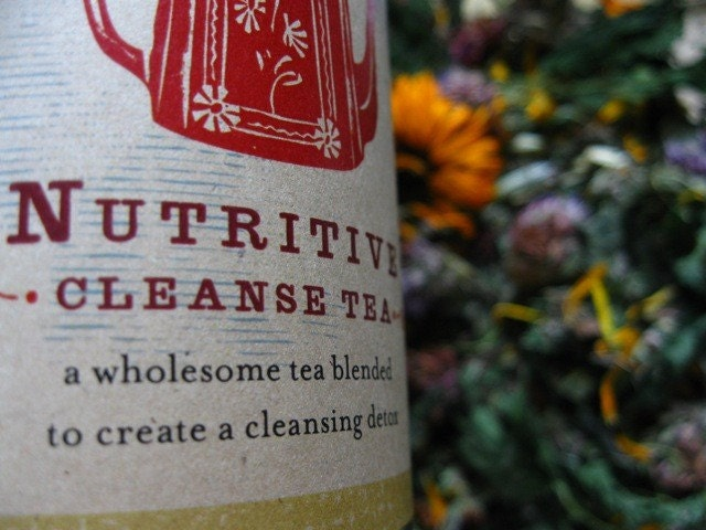nutritive cleanse, organic herbal cleansing tea