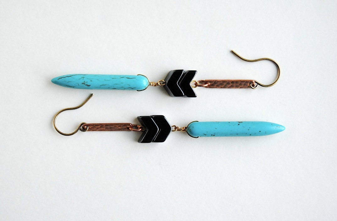 Turquoise Southwestern Earrings - Summer & Fall Fashion Jewelry - Free Shipping in the US - SPARKLEFARM