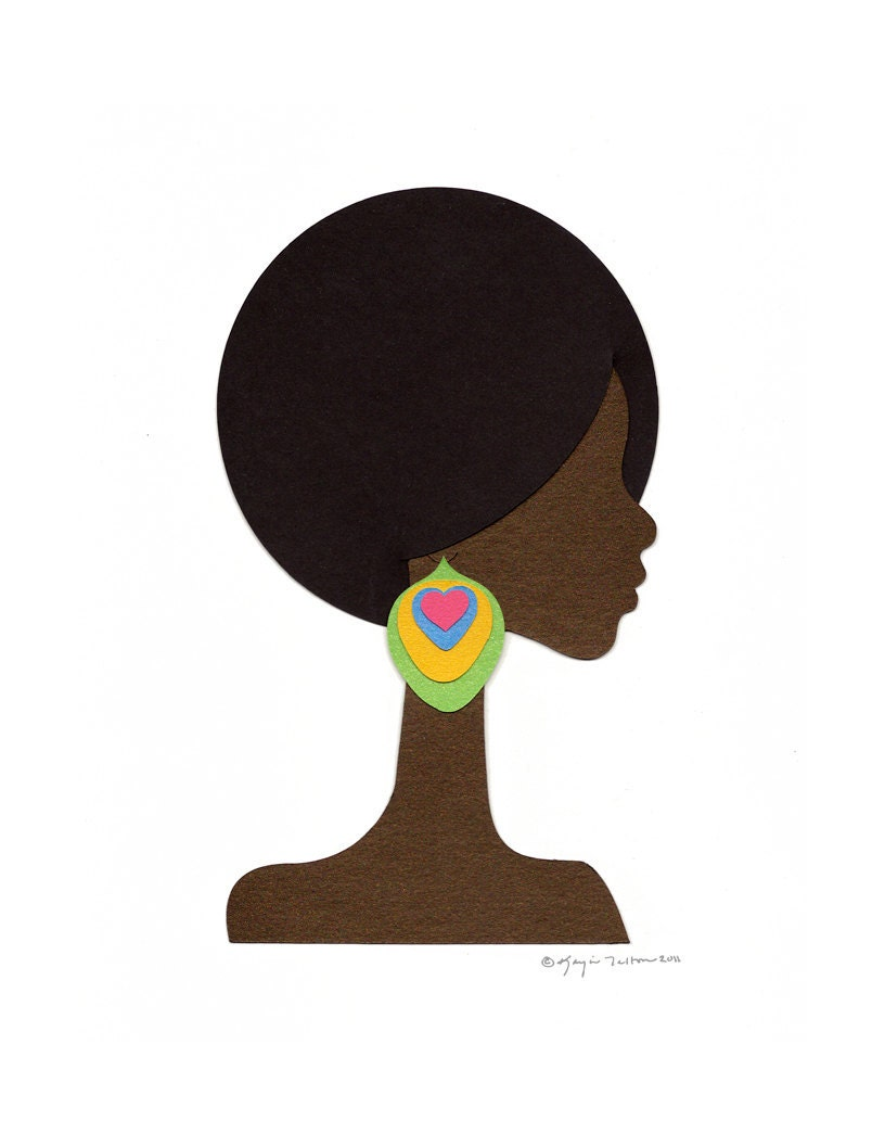 Bold Afro Cutout Collage