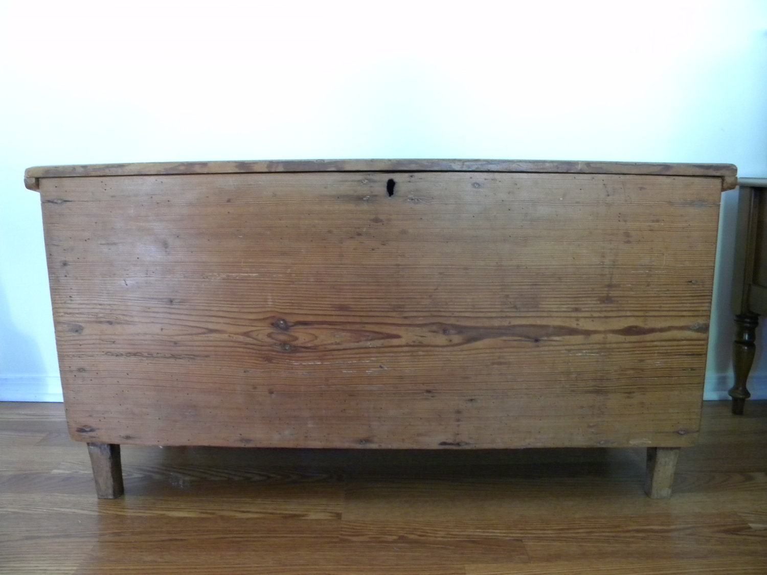 Primitive, rustic handmade blanket chest antique - aTreasureInStore