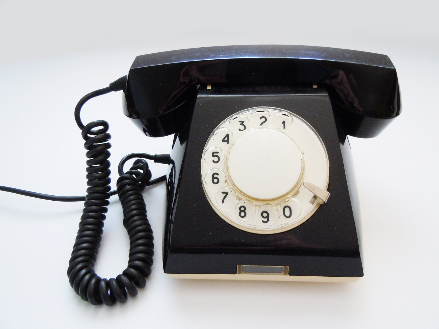 Vintage Russian dial rotary telephone.