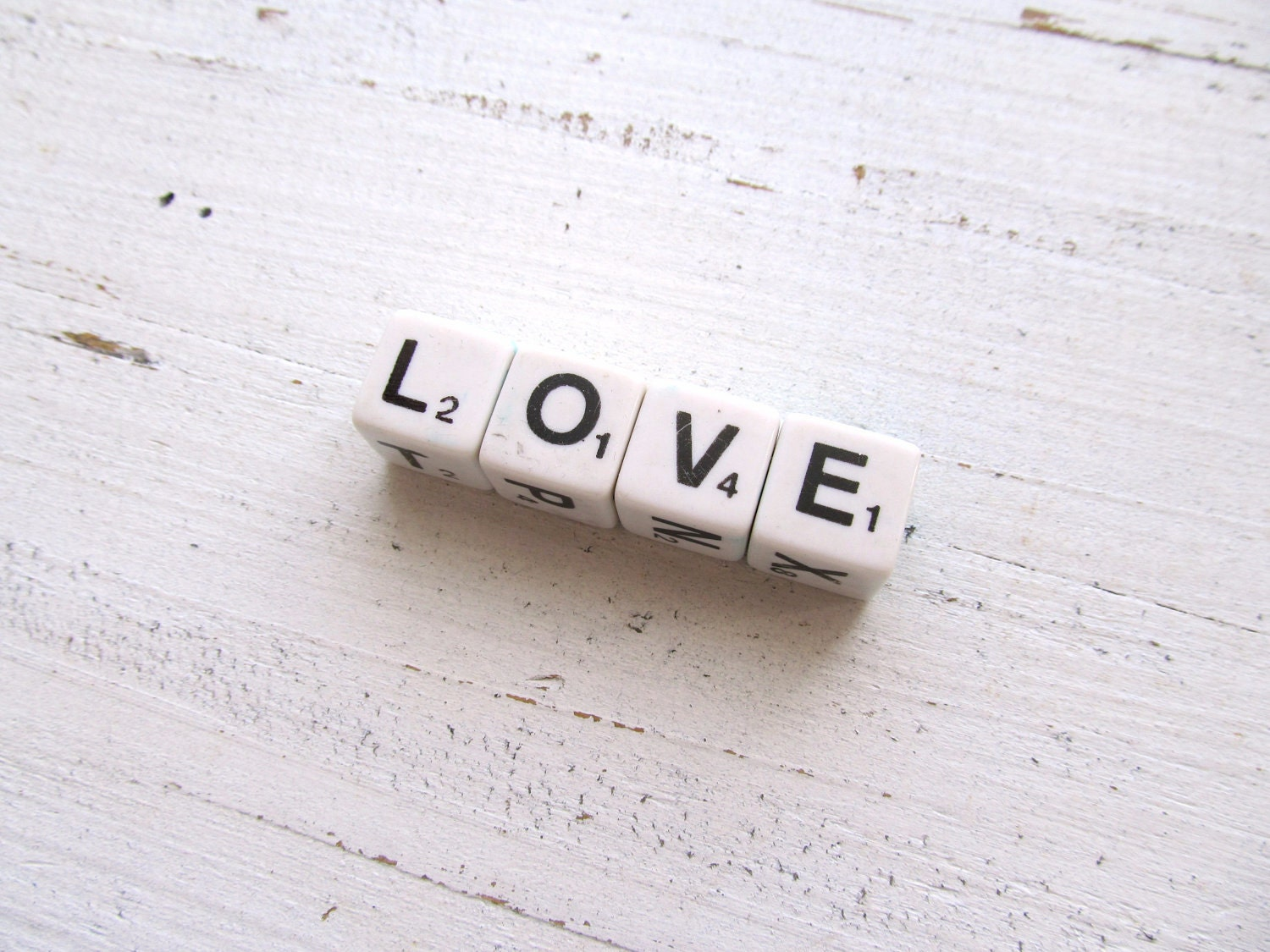 Vintage Letter Dice- Love No. 2