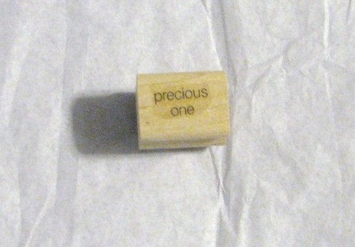 "Stampin Up Rubber Stamp ""precious one"""