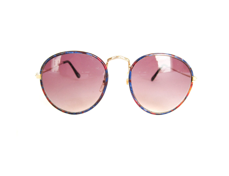 Vintage 1990s Round Sunglasses - pastoria