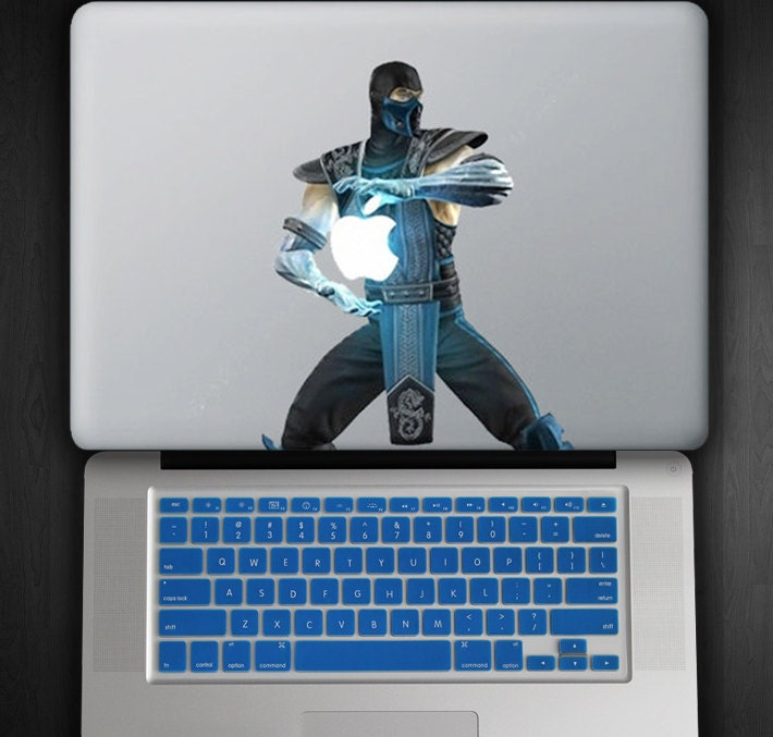 """Royal Blue Keyboard Cover and Sub Zero Decal COMBO for Macbook Pro / Air 13"""""""