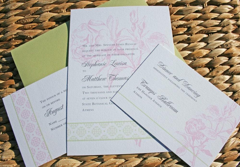 old fashioned wedding invitation background