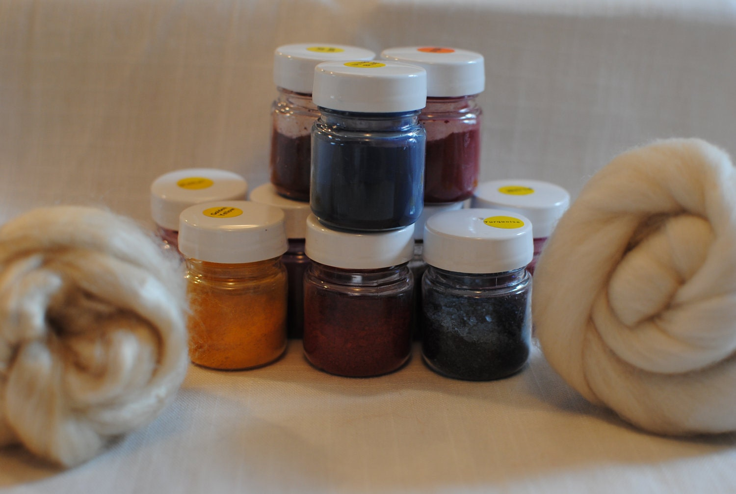 10 x All in one acid dye - 23 colours to choose from.
