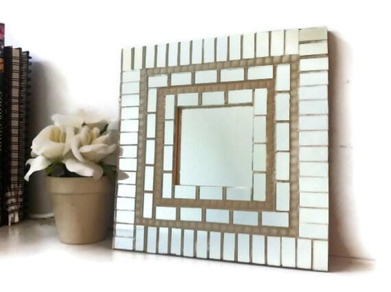 Mosaic Wall Mirror, Square Mosaic Mirror, Mirror Tiles - GreenStreetMosaics