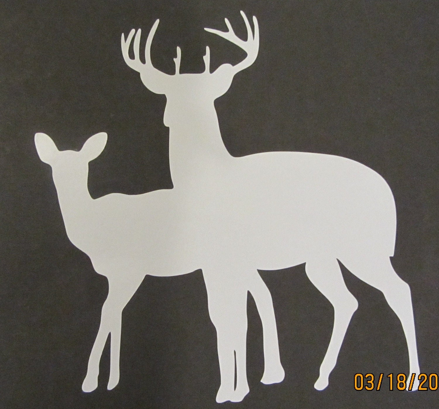 Vinyl Decal (Buck and Doe) - AIRBRUSHTEXAS