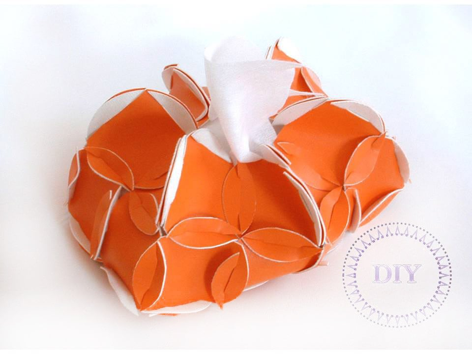 Home DIY Orange Tissue Holder creation set put&pull