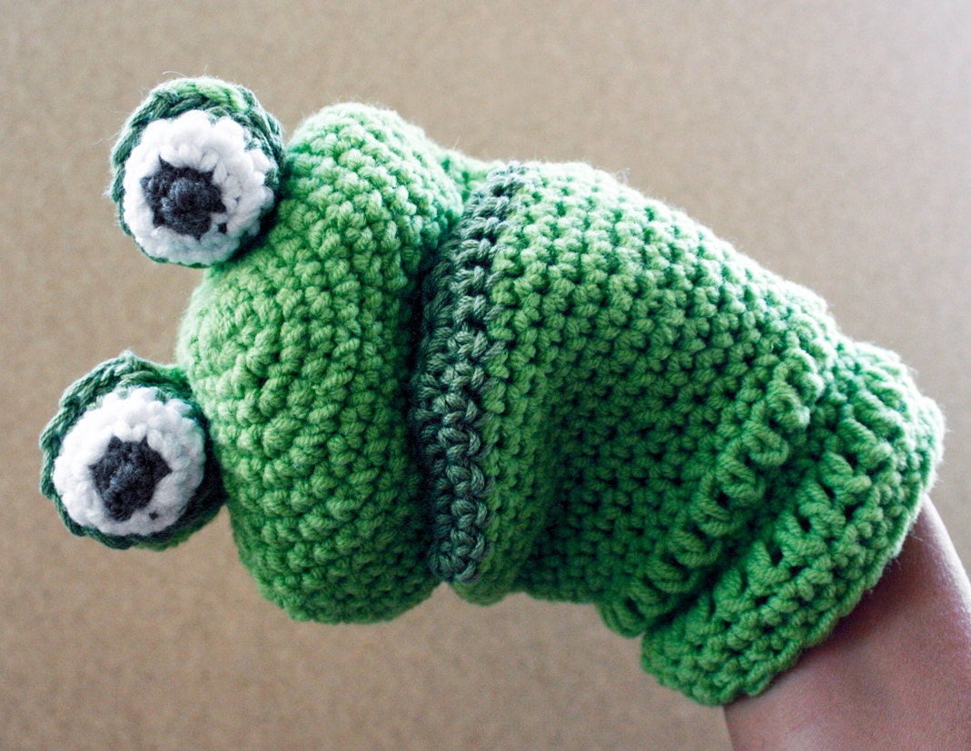 Cotton puppet - Frog - petitacosa