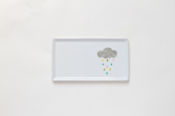 Rainy cloud platter