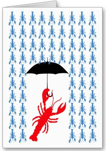 Lobster Rain, Keep Calm & Lobster On, Lobster Wedding Couple, Lobster Flag, Lobster In Love, Greeting Cards You Pick - JulieKnapp