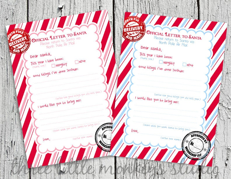 ... Children's Parties Blog: Countdown to Christmas - Letter to Santa