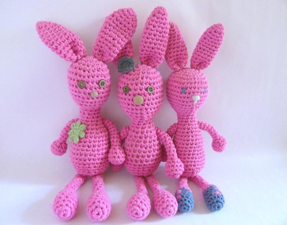 della, stella, bella. pink bunny triplet sisters