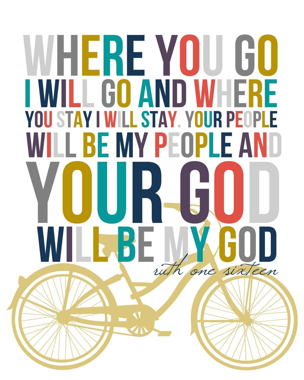 Ruth 1:16 8x10 print