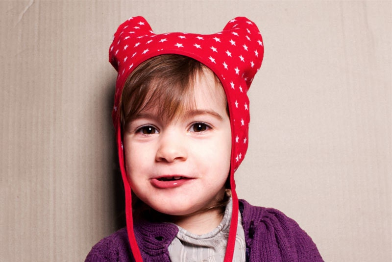 kids hat with stars and ears - cookieatthequay