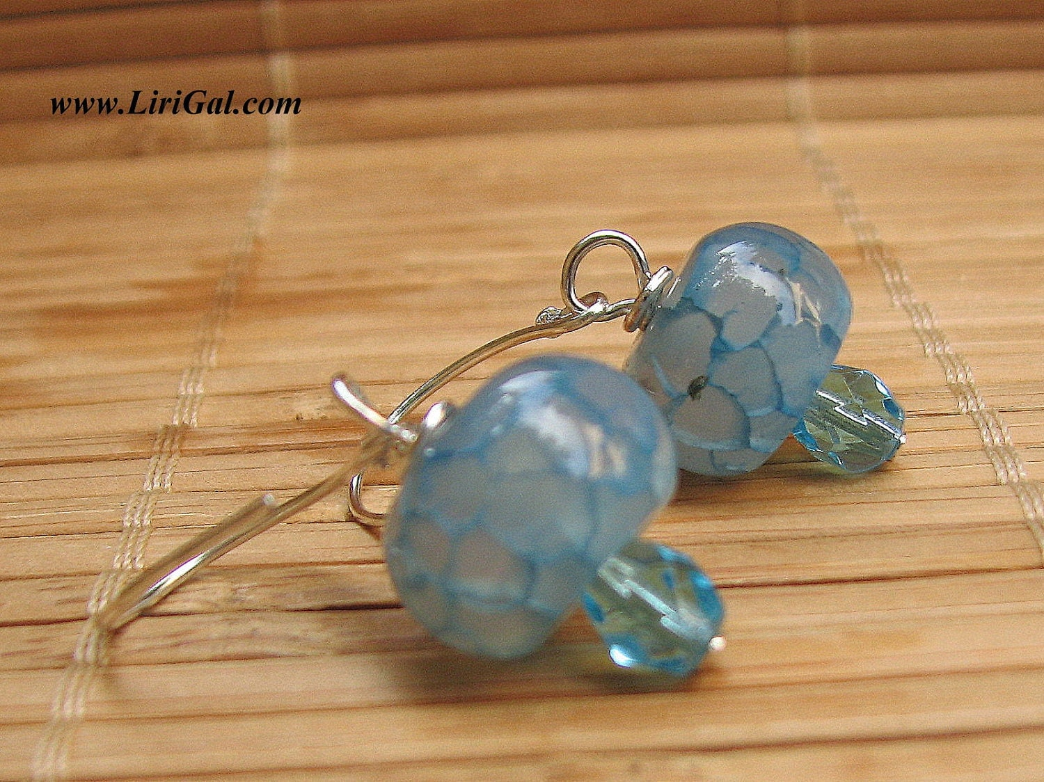 Dragon veins Sterling Silver Earrings