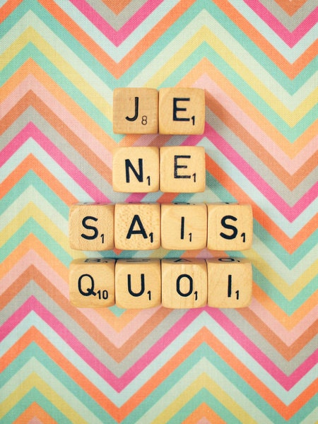Je Ne Sais Quoi. Art Print. Fine Art Photography. Scrabble Blocks. Home Décor. Chevron. French Words. Size A4 - happeemonkee