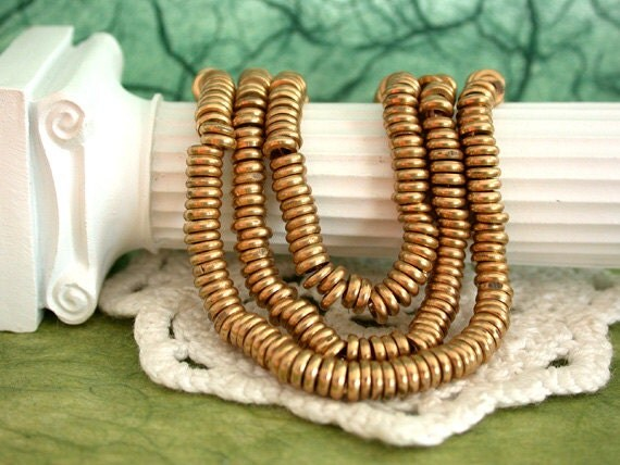 Raw Brass Spacers, Spacer Beads, Metal Spacer Beads MB-021