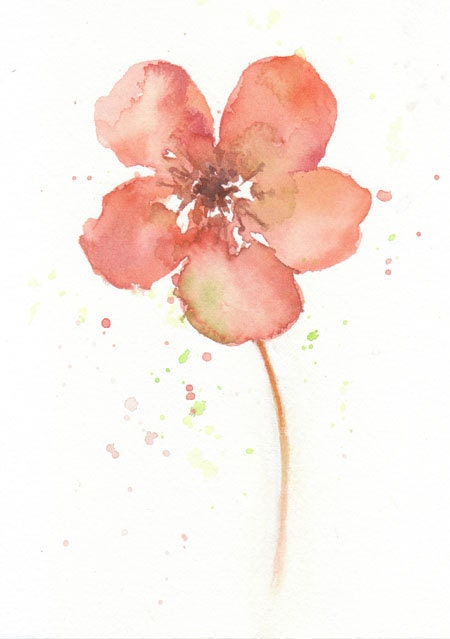 Abstract Watercolor Paintings of Flowers Abstract Watercolor Flower