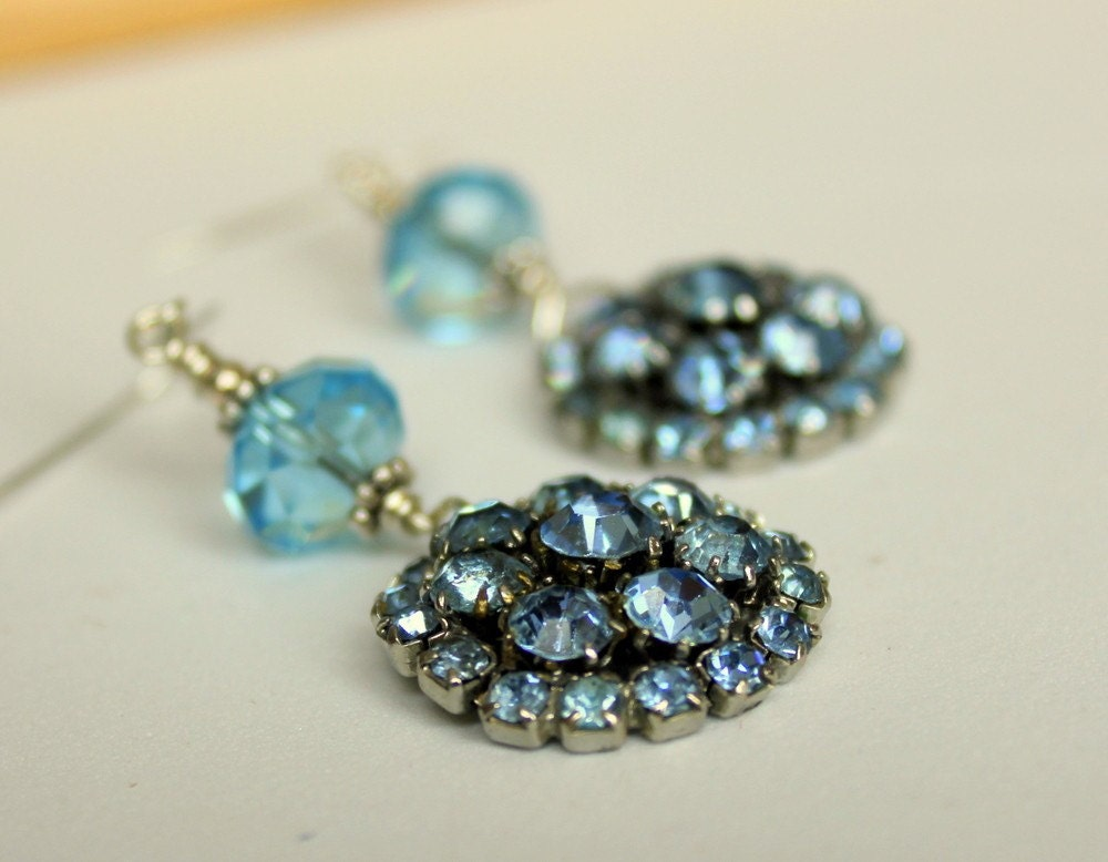 Something Blue Vintage Wedding Sterling Silver Aquamarine