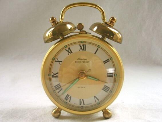 Vintage Linden Black Forest Alarm Clock Wind Up West Germany - VivaVera
