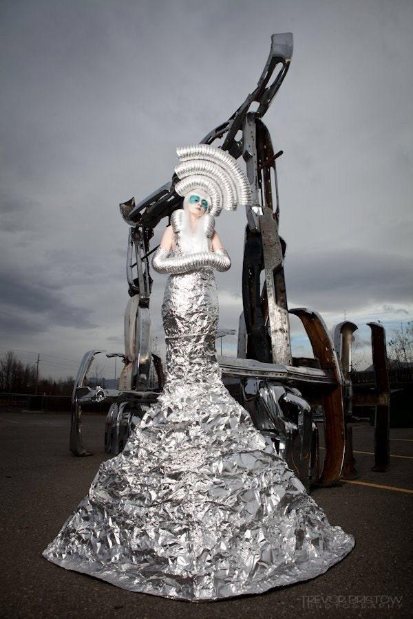 Костюм инопланетянина своими руками из пакетов