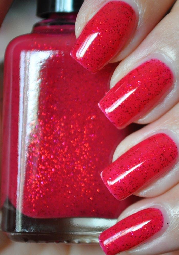 u jelly Red Glitter Nail Polish 15ml (.5oz)