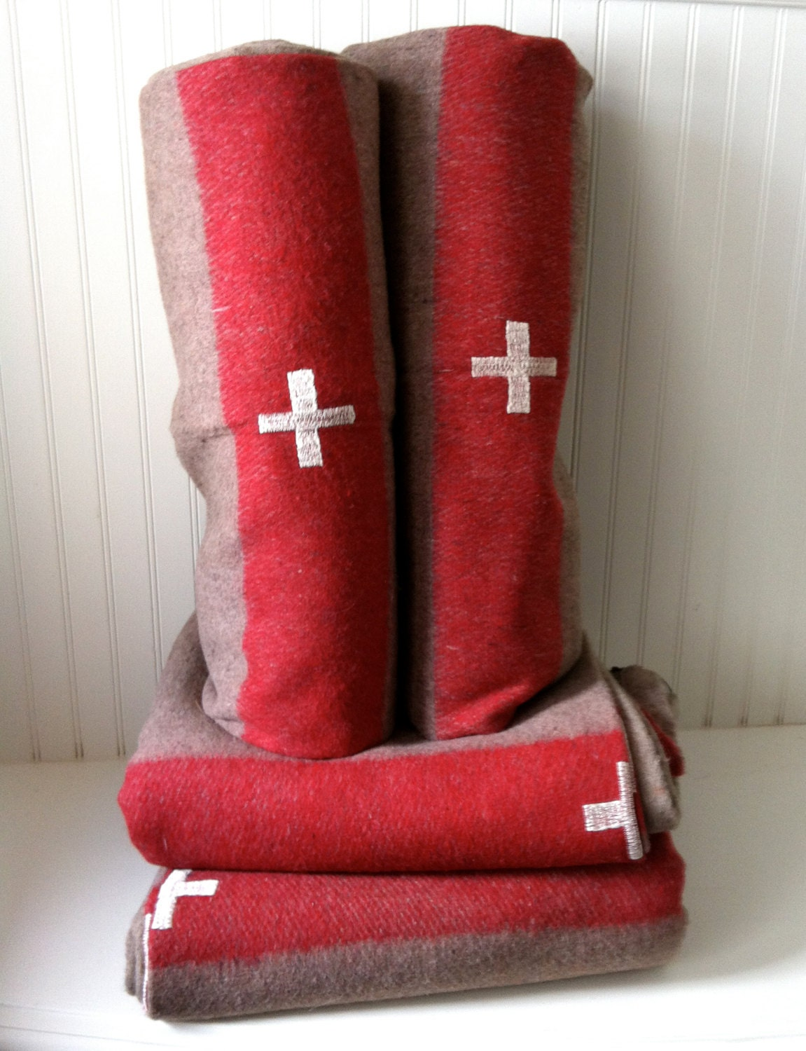 S O L D   O U  T ---Authentic Swiss Army wool blanket -preorder - OdeToJune