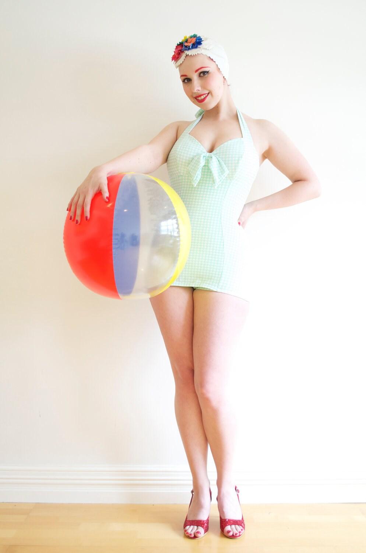 "1930's Inspired Swimsuit - ""The Minnie Suit"" - BettieSueBoutique"