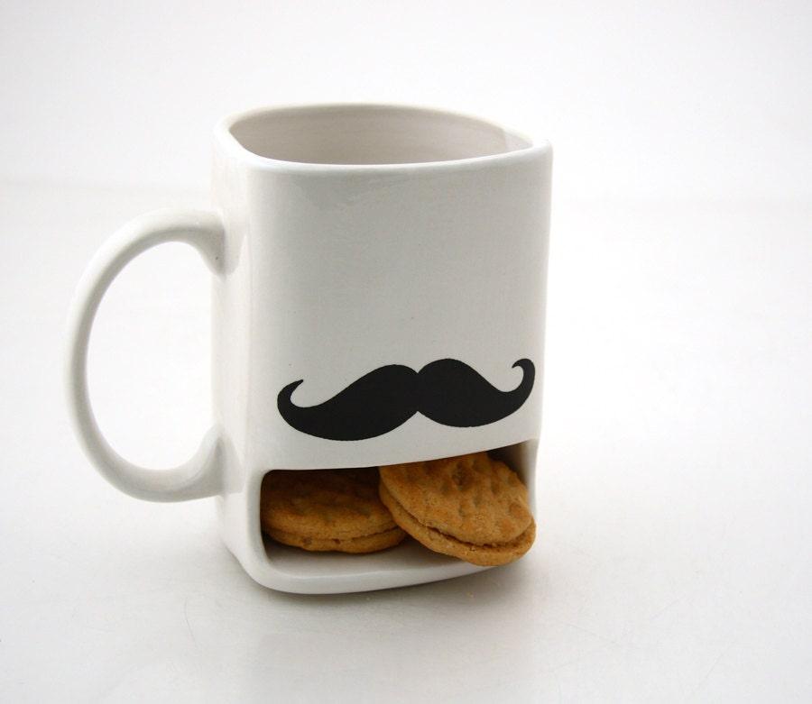 Mustache moustache dunk mug - LennyMud