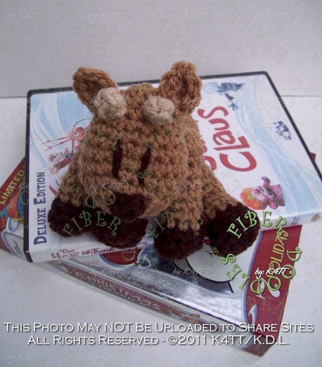 CROCHET PATTERN - Mini KISS Series - Reindeer