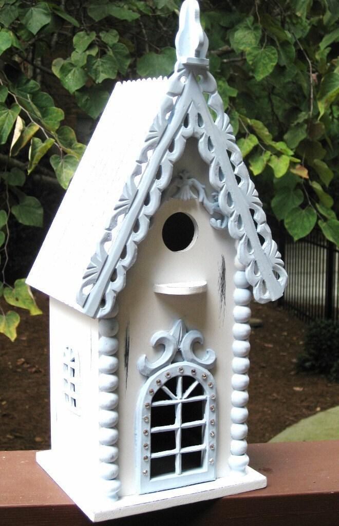 Shabby Chic Hand Painted Bird House