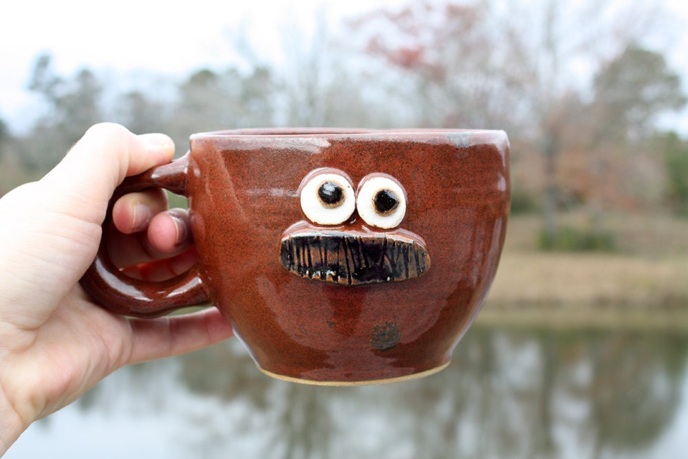 Man's Mustache Mug. Gifts for Dads. Unique Man's Gift